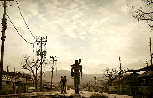 Fallout Walking into Sunset