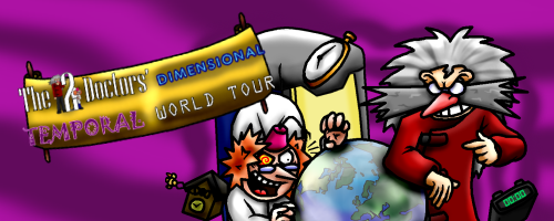 The Two Doctors' Dimensional Temporal World Tour webcomic series